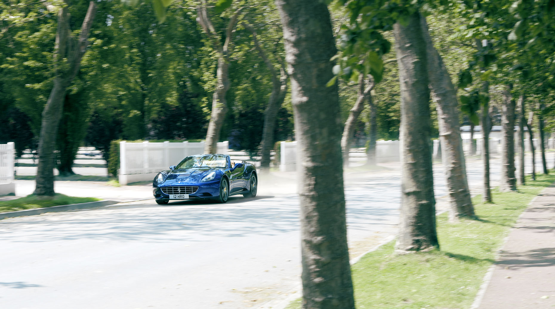 Ferrari California action inDeauville France