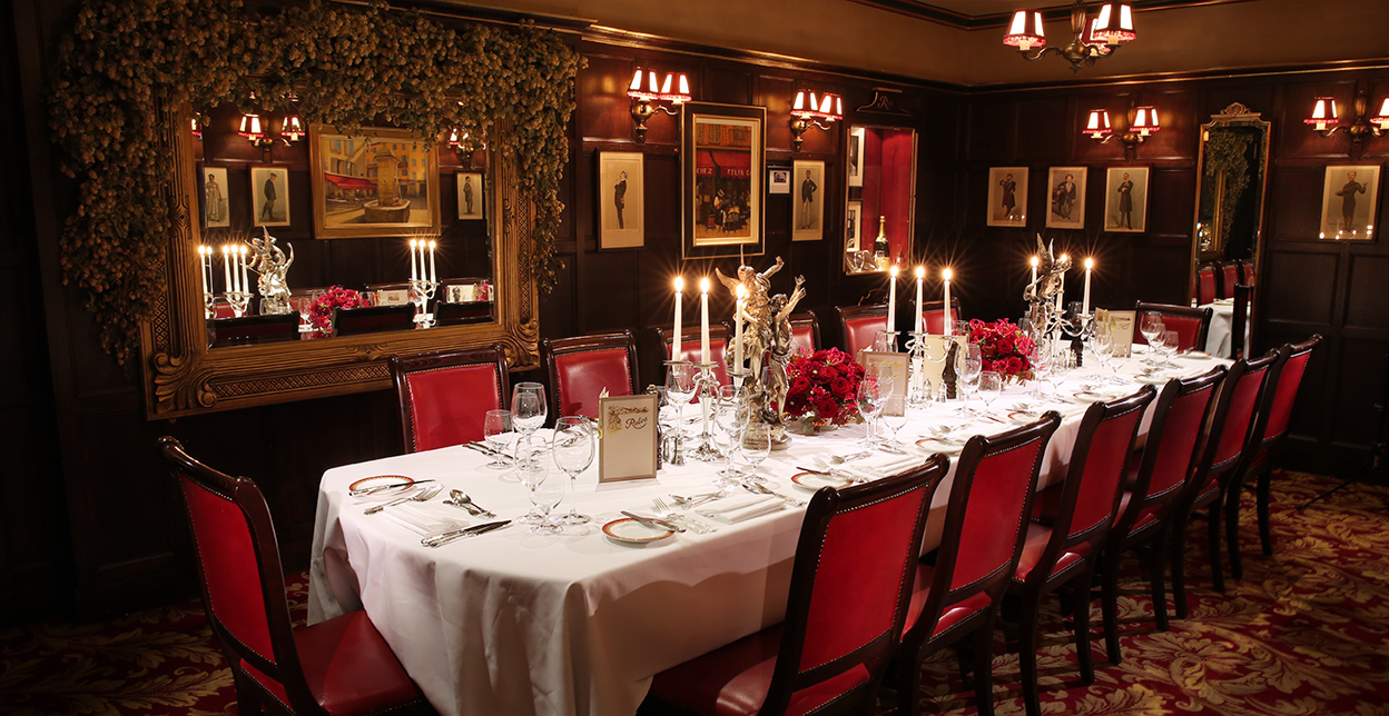 Grahame Greene room at Rules Restaurant london