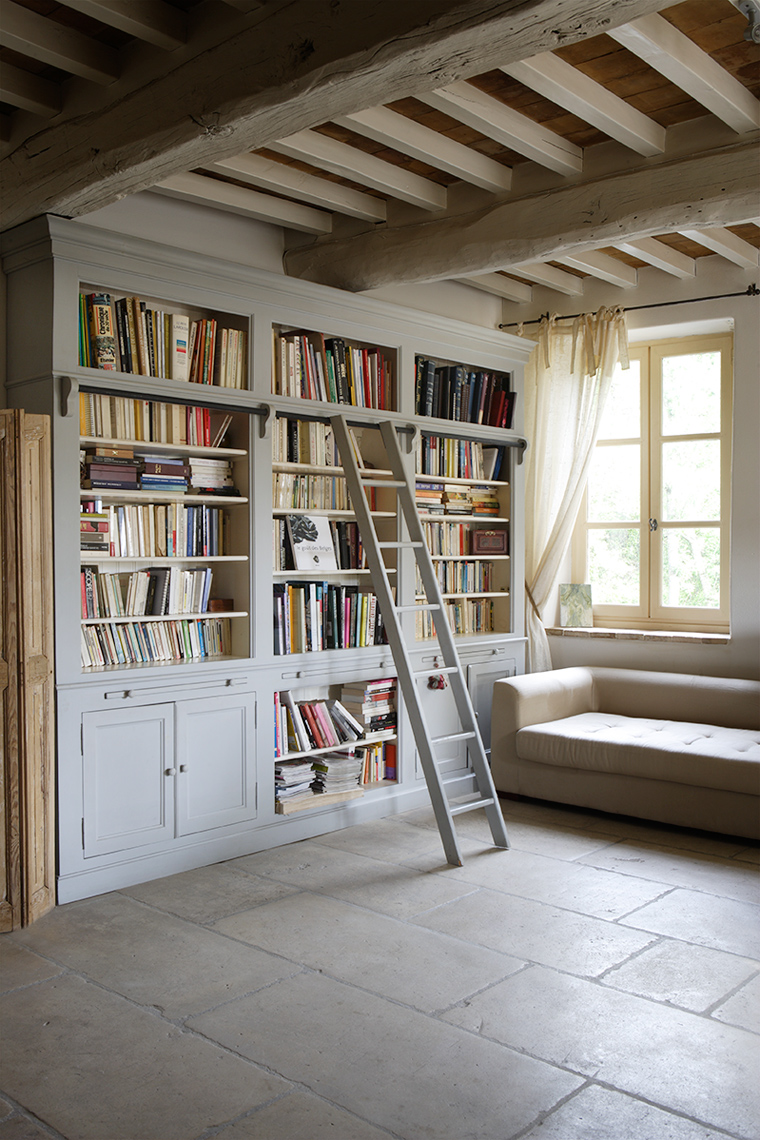 Library room in French house